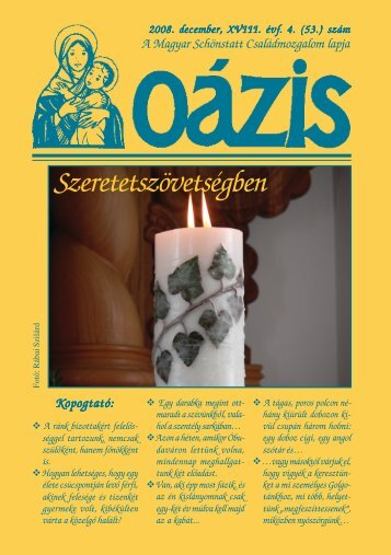 Szeretetszövetségben - Magyar Schönstatt Család