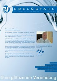 Edel&Stahl 01/2012 - E und F Metall und Rohrleitungsbau GmbH
