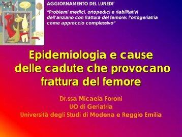 "Journal club: ""Epidemiologia delle cadute e delle fratture"""