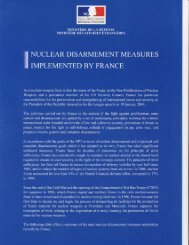 Nuclear Disarmament Measures Implemented by France