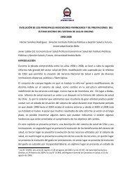 Informe sistema salud chileno 1998-2008 Final - Noticias ...