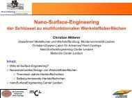 nanoSurfaceEngineering Center