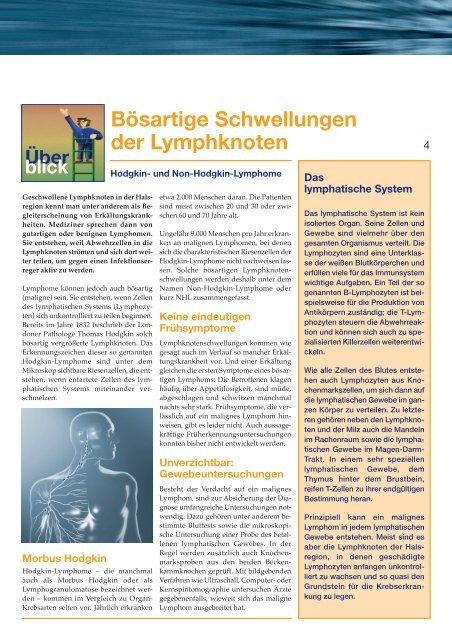 Ausgabe 4 / 2005 - Onkologische Schwerpunktpraxis Darmstadt