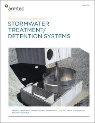 Stormwater Treatment and Detention Systems Brochure - Armtec