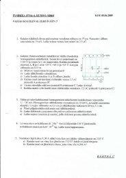 Vanha FY6-koe + ratkaisut