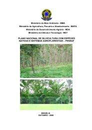 plano nacional de silvicultura com espécies nativas e sistemas ...