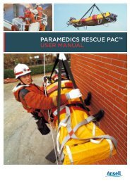 paramedics rescue pac™ user maNuaL - Ansell Protective Solutions