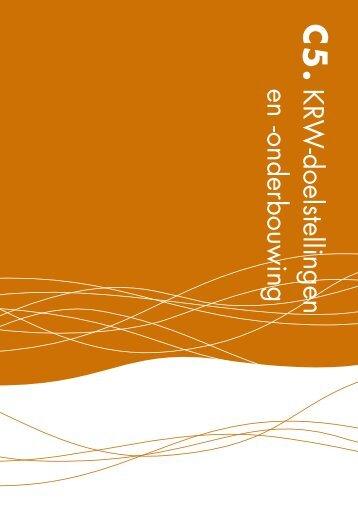 KRW -doelstellingen en -onderbouwing - Provincie Noord-Brabant