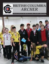 ARCHER - British Columbia  Archery Association