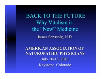 """""""New"""" Medicine - American Association of Naturopathic Physicians"""