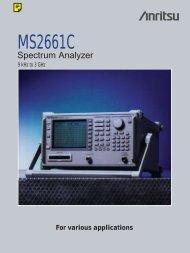 Anritsu MS2661C: Microwave Spectrum Analyzer - elsinco