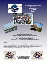 Europe Selects Elite Camp Sweden 7 Night ... - Selects Sports