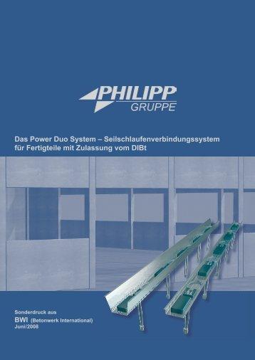 Das Power Duo system - PHILIPP Gruppe