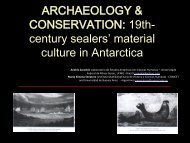 Archaeology & Conservation: 19th-Century Sealers