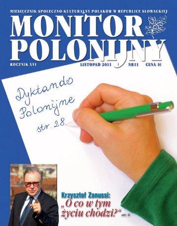 """""""O co w tym życiu chodzi?""""str. 6 - Polonia.sk"""
