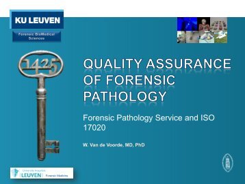 Forensic Pathology Service and ISO 17020