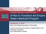 Medicaid 1115 Waiver - New York State Association of Counties