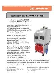 Technische Daten 1000 SR-Tower Geschlossene ... -  ph-cleantec