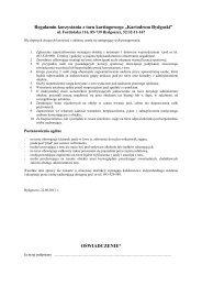 Regulamin korzystania z toru kartingowego - PZM Bydgoszcz
