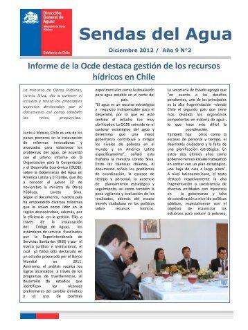 Boletín: Sendas del Agua (Diciembre 2012) - Dirección de General ...