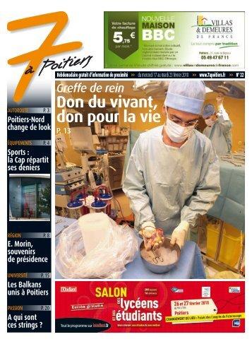 n° 22 voir ce numéro - 7 à Poitiers