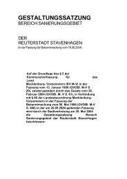 Gestaltungssatzung des Sanierungsgebietes - Stavenhagen