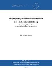 Employability als Querschnittsansatz der Hochschulausbildung