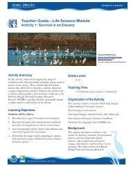 Teacher Guide—Life Science Module - Estuaries NOAA