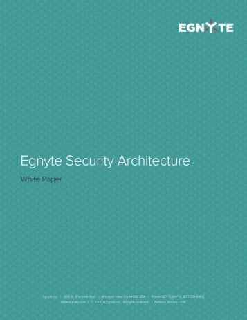 third party security firm to perform continual penetration tests - Egnyte