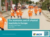 The Economic Costs of Physical Inactivity in Europe (June 2015)