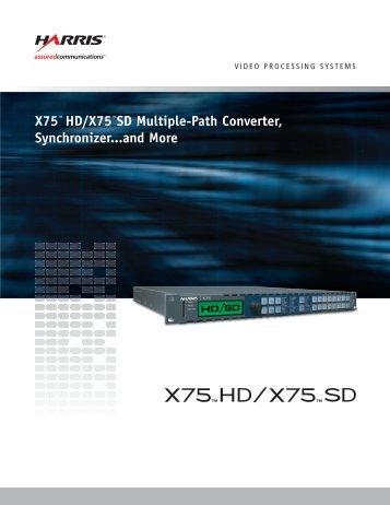 Harris X75 brochure.pdf - BroadcastStore.com
