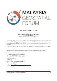 SHIPPING INSTRUCTIONS - Malaysiageospatialforum.org