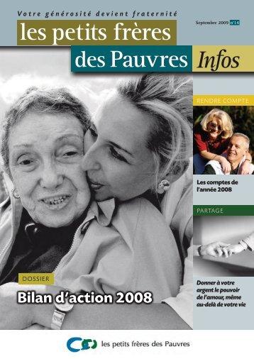 les petits frères des Pauvres Infos n°14 - septembre 2009