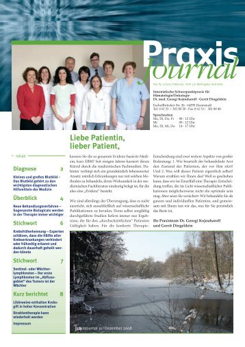Ausgabe 11 / 2008 - Onkologische Schwerpunktpraxis Darmstadt
