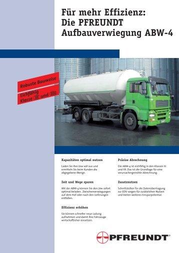 ABW-4 - Pfreundt GmbH