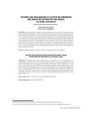 Artigo integral em .pdf - Instituto de Economia Agrícola