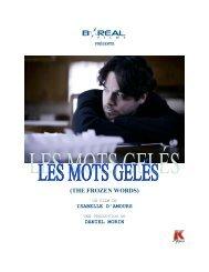 (THE FROZEN WORDS) - K-Films Amérique