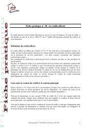 Fiche pratique n° 30 : le crédit affecté - Familles de France