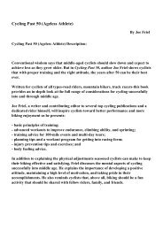 Cycling Past 50 (Ageless Athlete) - PDF eBooks Free Download
