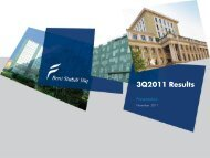 3Q2011 Results - Beni Stabili