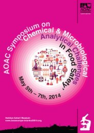Chemical & Microbiological Analytical Challenges in Food ... - Anses