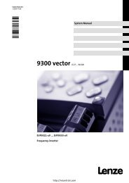 Lenze 9300 Vector Manual - Northern Industrial