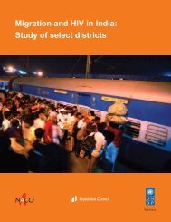 Migration and HIV in India: Study of select districts - Population ...