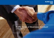 "KURZ Code of Business Conduct1 (""Code"") - leonhard kurz"