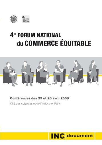conférence - la Plate-Forme pour le Commerce Équitable
