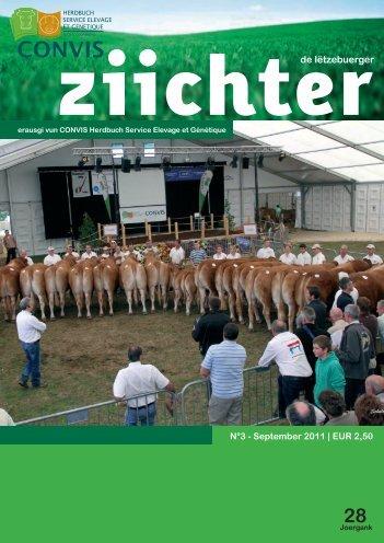 de letzebuerger ziichter 3/2011 - Convis Herdbuch Service Elevage ...