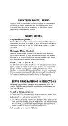 Digital Servo Programmer Instructions - Spektrum