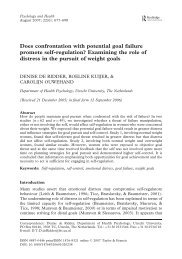 Does confrontation with potential goal failure promote self-regulation ...