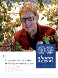 Halles Forscher ernten Lorbeeren - Alumni Halenses - Martin-Luther ...