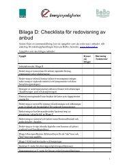 Potential för energieffektivisering - BeBostad.se